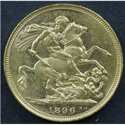 Australian Sovereign 1896M Choice Unc
