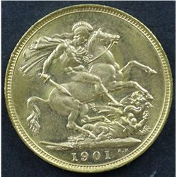 Australian Sovereign 1901M Choice Unc