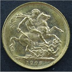 Australian Sovereign 1903M Unc