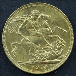 Australian Sovereign 1914S Gem Unc