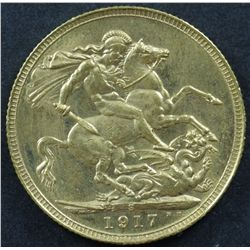 Australian Sovereign 1917S Choice Unc