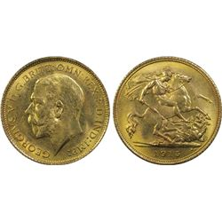 Australia Half Sovereign 1915 S, PCGS MS64