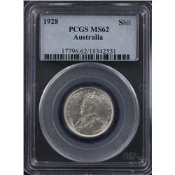 1928 Shilling PCGS MS62