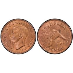 1942 P Penny PCGS MS63 RB