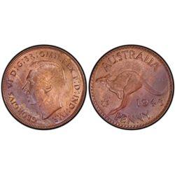 1945 P Penny PCGS MS62 RB