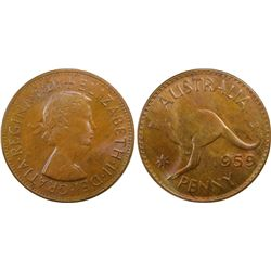 1959 M Penny PCGS MS 65 BN