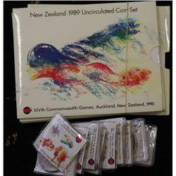 1989 New Zealand Unc Sets (4), 1989 $1 Games (16)