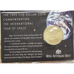1990 $5 Anzacs (22), 1992 Space (4), 1988 Parliament (20)