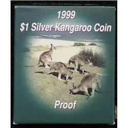 1999, 2000 $1 Silver Kangaroo