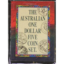 Australia $1 5 Coin Set