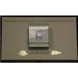 1990 Anzac Coin Set and 1999 Proof Dollar