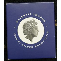1999 $1 Silver Proof, Majestic images