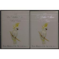 $10 Bird Series 1990 x 2, Cockatoo