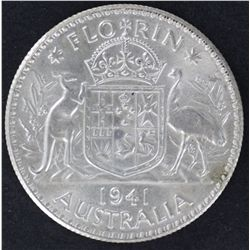 1941 Florin Uncirculated, 1943 ACGS MS60, 1943 ACGS MS62