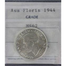 1944 Florin MS62, 1944s Florin MS64