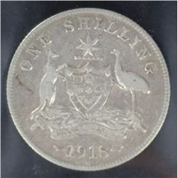 Shillings 1917, 1916 and 1918
