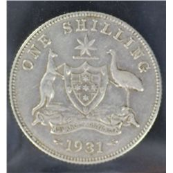 Shillings 1931, 1926, 1927 and 1928