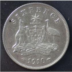 1910 sixpence, 1910 Shilling VF