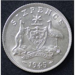 1945 and 1946 Sixpences
