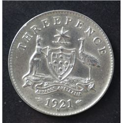 1921M Threepence Uncirculated