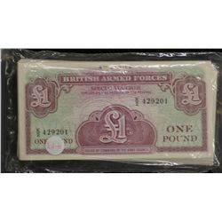 Bundle of British Armed Forces 1 Pounds