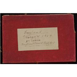 Great Britain 1927 Proof Set case