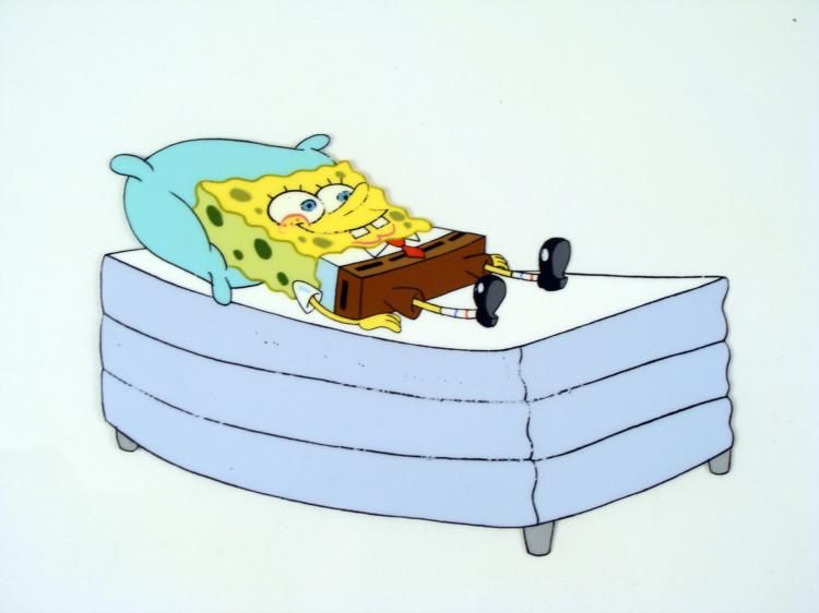 Astounding Rest And Relaxation Cel Original Spongebob Animation Gmtry Best Dining Table And Chair Ideas Images Gmtryco