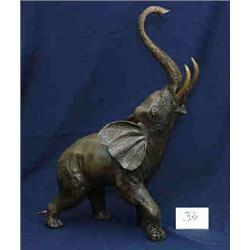 "1 BRONZE-ELEPHANT FOUNTAIN X 26""H..."