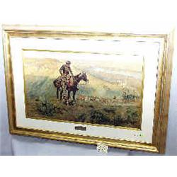 """A 1 PRINT-CHARLES RUSSELL 17""""X29"""" BOSS""""..."""