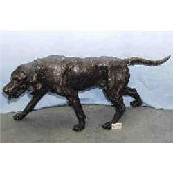 """A 1 BRONZE POINTING DOG 21""""H, 51""""L..."""