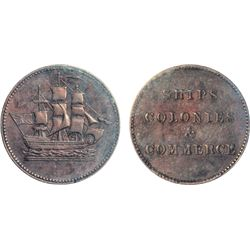Breton-997. PE10-33. Lees-33. (1835). Ships, Colonies & Commerce. ICCS Very Fine-30. An excellent ex