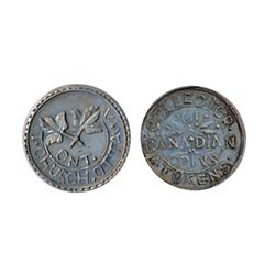 Thomas Church Token. Bow. 4-26. White metal. Plain edge. Medium thick. 6.8 gms. Unc. (Five examples