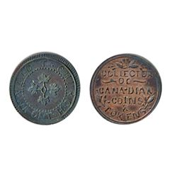 Thomas Church Token. Bow. 7-24. Copper. Plain edge. Medium thick. 7.7 gms. Unc. 30% lustre.