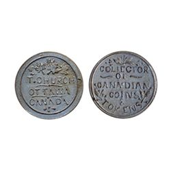 Thomas Church Token. Bow. 13-24. White metal. Plain edge. Thin. 6.5 gms. Unc. Nine examples struck.