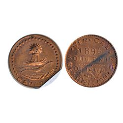 Thomas Church Token. Bow. 35-48. Copper. Plain edge. Medium thick. 9.5 gms. Unc. 80% lustre.