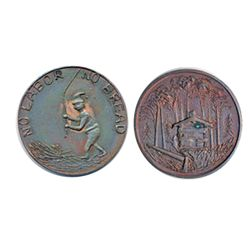 Thomas Church Token. Bow. 36-39. Copper. Plain edge. Thick. 14.4 gms. Unc. 70% red lustre. Only thre