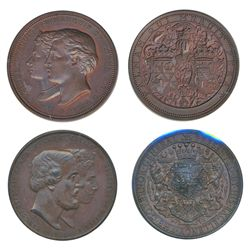 GOVERNOR GENERAL OF CANADA. The Earl of Dufferin. (1872-1878). 1873. 51mm. Clowery-101. Bronze. AU.