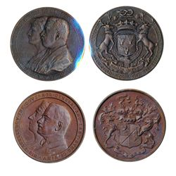 GOVERNOR GENERAL OF CANADA. The Duke of Devonshire. (1916-1921). 51mm. Clowery-111. Bronze. AU. Red