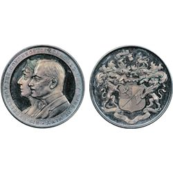 GOVERNOR GENERAL OF CANADA. Lord Byng. (1921-1926). 50mm. Clowery-112. Silver. Unc. Blue leatherette