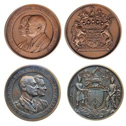 GOVERNOR GENERAL OF CANADA. The Earl of Athlone. (1940-1946). 50mm. Clowery-116. Bronze. AU; Viscoun