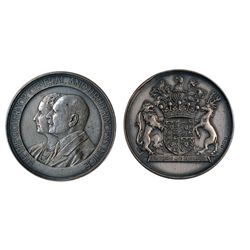 GOVERNOR GENERAL OF CANADA. The Earl of Athlone. (1940-1946). 50mm. Clowery-116. Silver. AU. Blue le