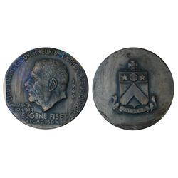 LIEUTENANT-GOVERNOR OF CANADA. Quebec. Maj. Gen. Hon. Eugene Fiset. . 73mm. Clowery-15. Silver. AU.