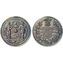 LeRoux and Charlton Vol 1 listed medals: LR 612 Ch EQCA–9 in AE (250 struck) and AR (100 struck) bot