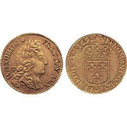 FRANCE. Louis D'Or. 1691A. KM#278.1. Louis XIV. VF+.