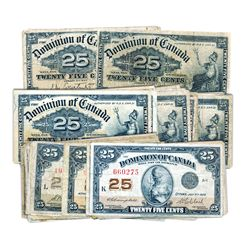 25 CENTS. Jan. 2, 1900. DC-15a. Courtney. (10 pcs.); DC-15b. Boville. (33 pcs.); DC-15c. Saunders. (