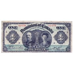 $1.00. Jan. 3, 1911. DC-18b. No. 423272/A. Green line. Boville. PCGS graded Fine-15.
