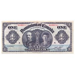 $1.00. Jan. 3, 1911. DC-18c. No. 810913J. Green line. Boville. PMG graded Very Fine-20. Net. Discolo