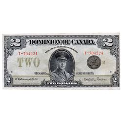 $2.00. June 23, 1923. DC-26j. No. T-704224/C. Black Seal. PCGS graded Very Fine-30. PPQ.