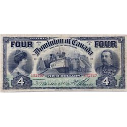 "$4.00. Jan. 2, 1902. DC-17b. No. 132727/D. 'FOUR's"". PMG graded Very Fine-20. A scarce high grade ex"