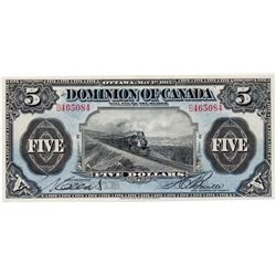 $5.00. May 1, 1912. DC-21c. No. B465084/C. No Seal. Boville, r. PMG Choice Unc-63. The popular 'Trai